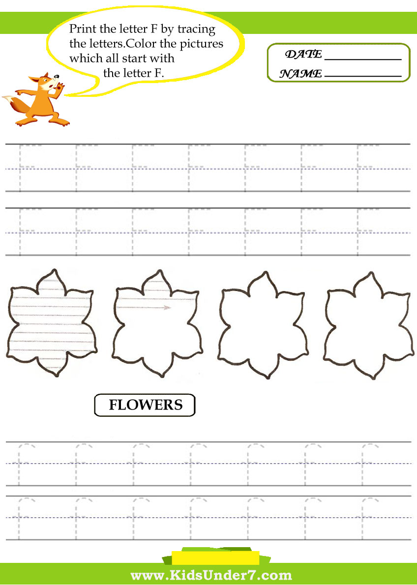 Printable Letter F Tracing Worksheets