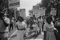 African American women marching - civil rights
