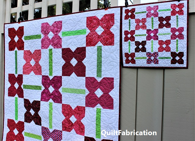 Petunia Patch 1 and Mini quilts fabric placements