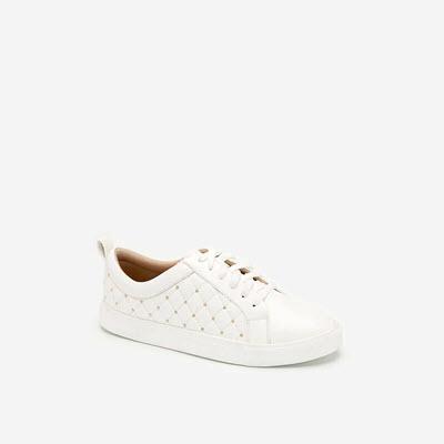 Giày Sneaker Chần Bông Đính Kim Loại - SNK 0026 - Màu Trắng