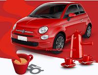 Logo Concorso Lavazza ''Qualità Rossa ''Un viaggio lungo 50 anni'': vinci Fiat 500 e Kit Carmencita e Tazzine