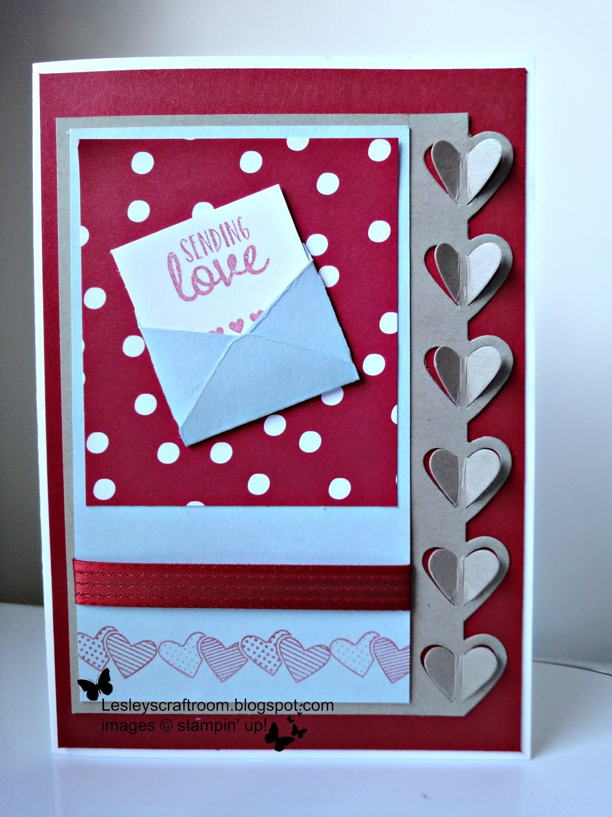 Lesley 39 s craft room sealed with love for Stampin pretty craft room