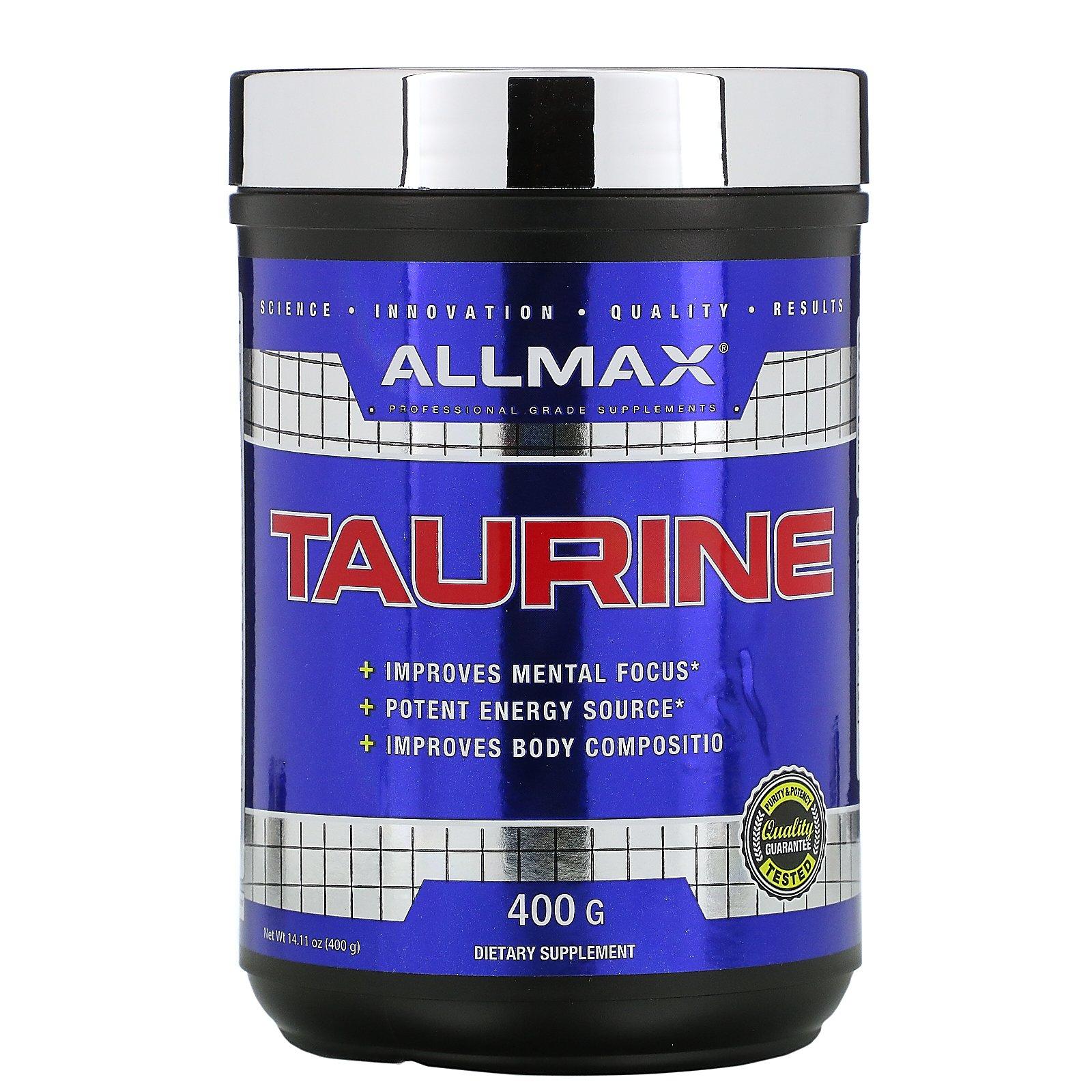 ALLMAX Nutrition, Таурин, без добавок, веганский продукт без глютена, 3000 мг, 400 г (14,11 унций)
