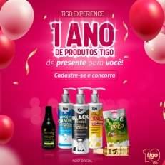Promoção TIGO Cosméticos 1 Ano Produtos Grátis