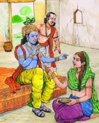 Story Of Devotion – Wife of Vidura Offering Banana Peel Instead Banana To Krishna