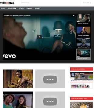Video Mag Blogger Template
