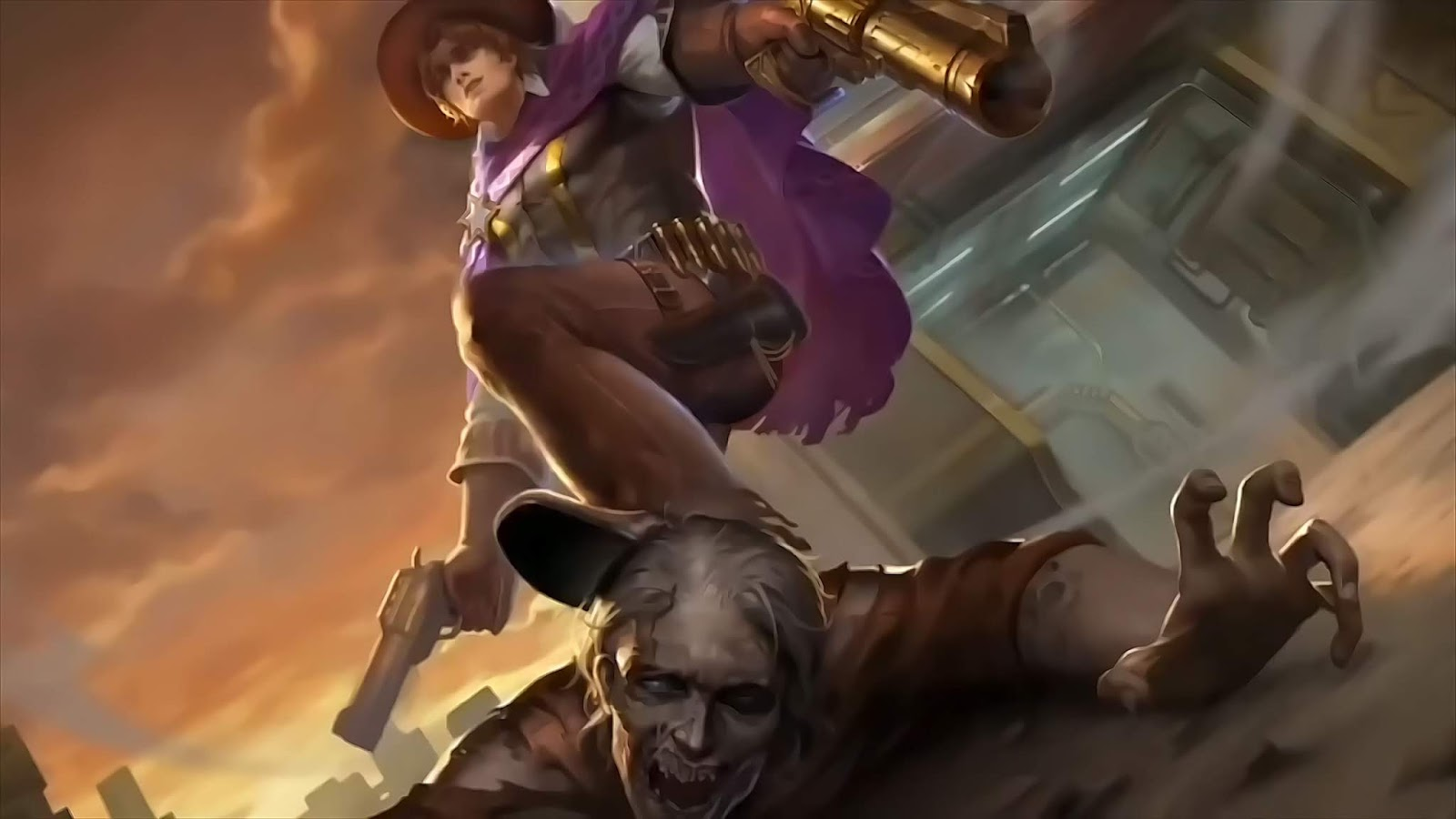 Wallpaper Clint Wasteland Drifter Old Skin Mobile Legends HD for PC