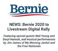 Neil Young - Bernie Sanders - Digital Rally