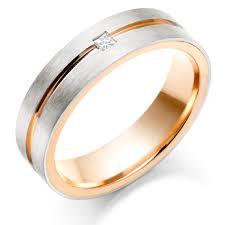 Rose Gold Mens Wedding Rings