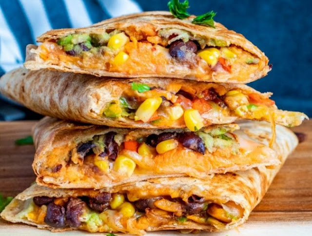 Vegan Sweet Potato Quesadillas #vegetarian #dinner