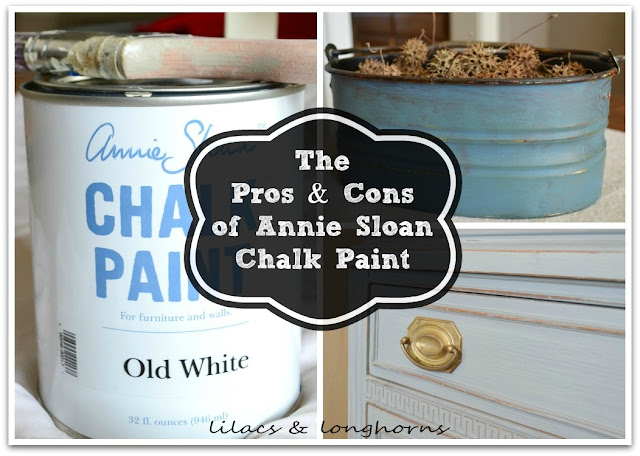 Annie sloan chalk paint the pros cons lilacs and for Diy chalk paint problems