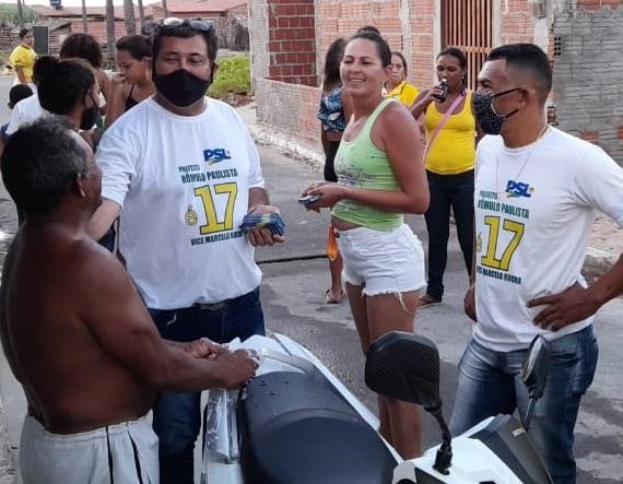 Rômulo Paulista cumpre agenda eleitoral ao lado do seu novo vice Marcelo Rocha no distrito de Diogo Lopes, conquistando a confiança dos moradores e levando as propostas do Salve Macau.