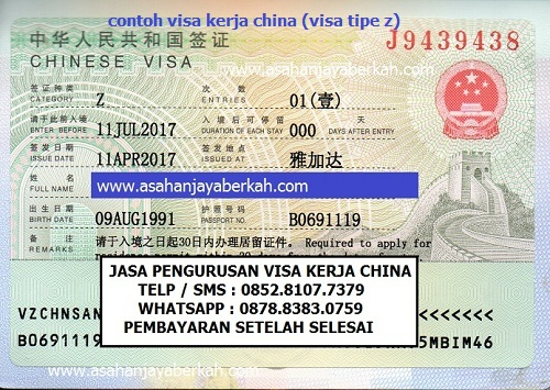 Rahasia Dokumen Dijamin Syarat Pengurusan Visa Kerja China