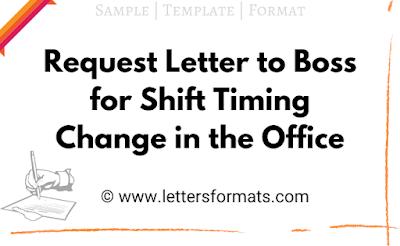 application letter for shift change in office
