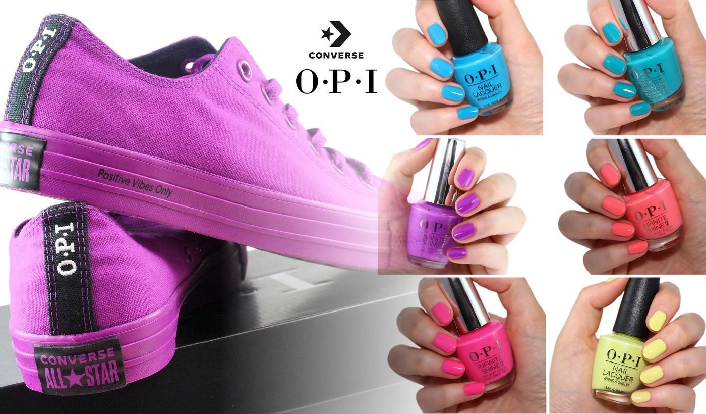 OPI x Converse collaboration Neon shades Nailderella