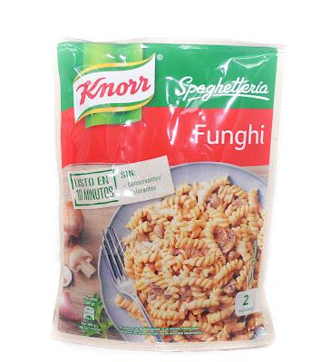 Knorr pasta con salsa fughi