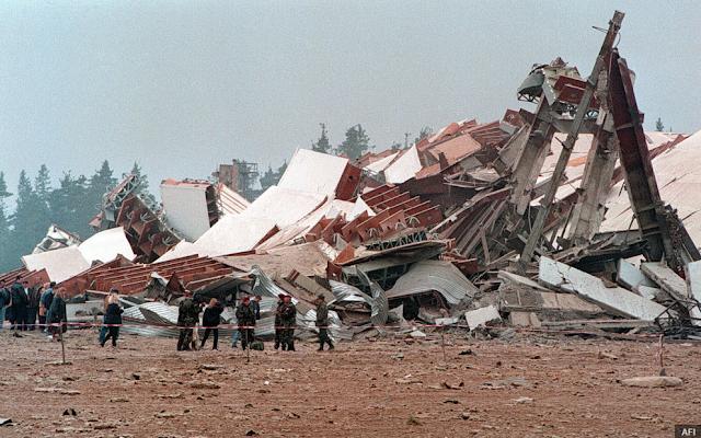 """Разрушенное здание РЛС """"Скрунде"""""""