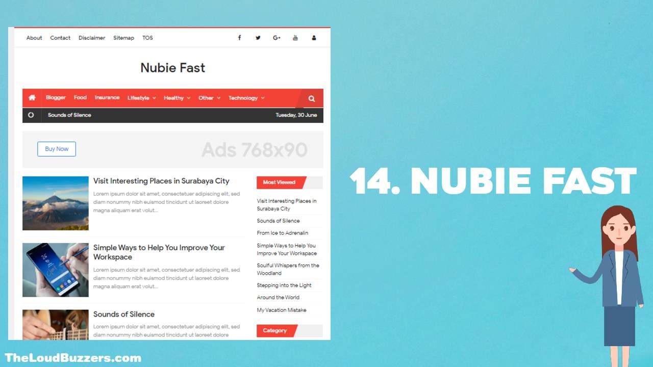 Nubie Fast Blogger Template