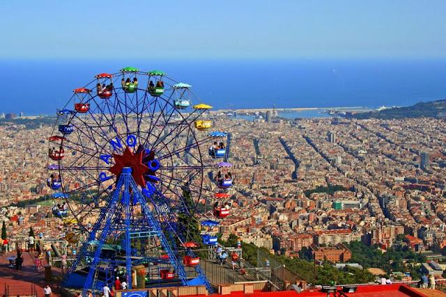 Parc d'Atraccions del Tibidabo em Barcelona