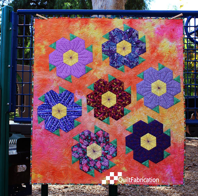 Saw Tooth Flowers Quilt