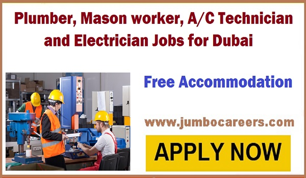 Latest Technical jobs in Dubai UAE, Technical jobs with accommodation,