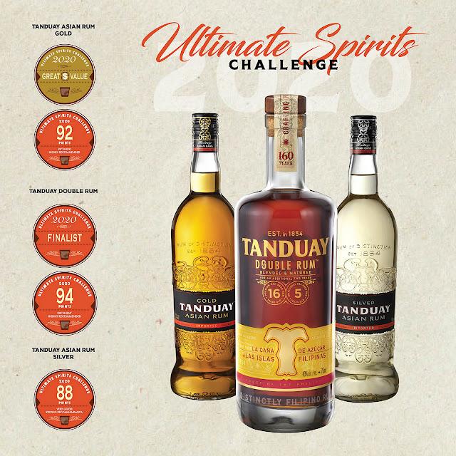 Tanduay Rums Bag Ultimate Spirits Challenge Award in US