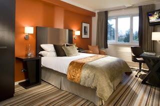 Wandgestaltung Schlafzimmer Orange - schöne Küche Design