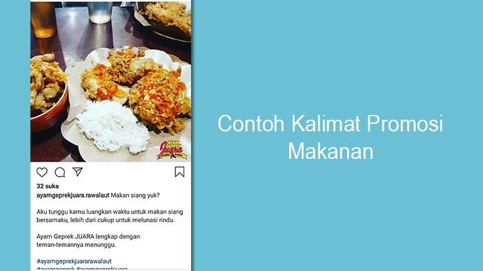 Caption Kata Kata Promosi Makanan Di Instagram