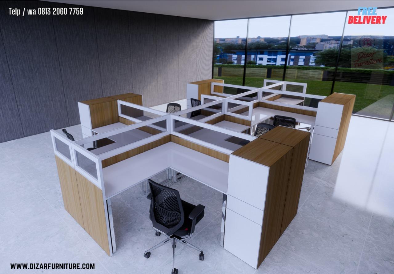 Meja Cubicle kantor bekasi jakarta