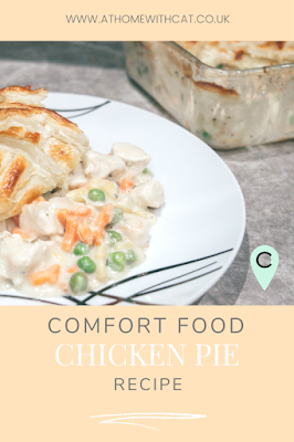Pinterest Graphic - Comfort Food Chicken Pie Recipe