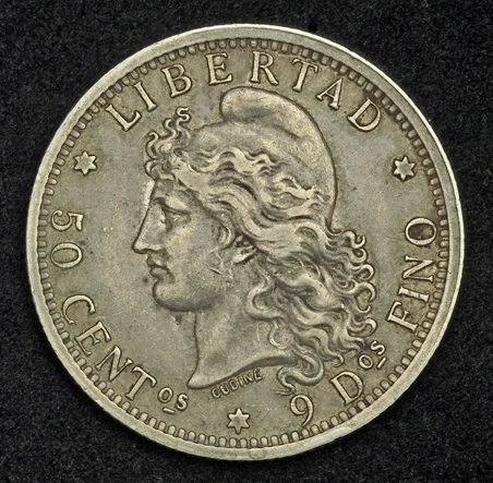 Coins Of Argentina 50 Centavos Silver Coin Of 1882