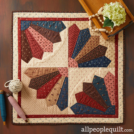 Mary's Fan Table Topper Inspired by: Spring Sunrise from designer Shannon Arnstein for All People Quilt