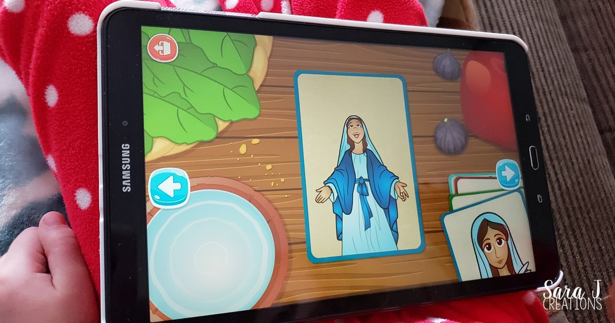 This app is AMAZING for Catholic kids. It is an engaging and fun way to learn about Bible stories, the life of Jesus, the Sacraments, the saints, prayers and so much more. Click to learn more about why we love this app so much.