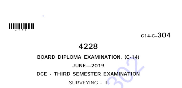 Diploma Surveying-2 Previous Question Paper c14 June 2019