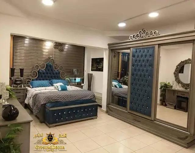 غرف نوم كاملة 2021 بالدولاب والتسريحة