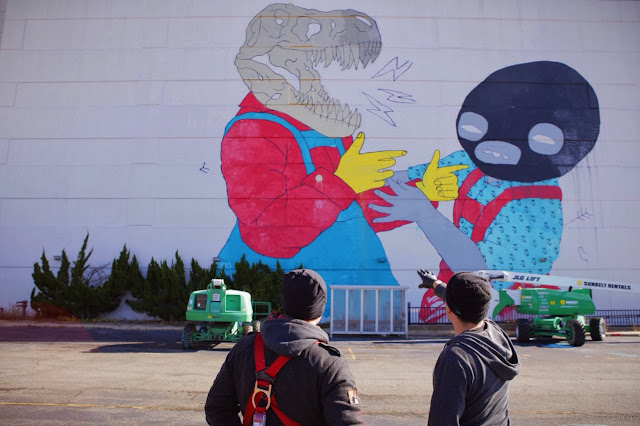 New Street Art Collaboration By Jasper Wong and Kelly Towles in Washiongton DC, USA. 8