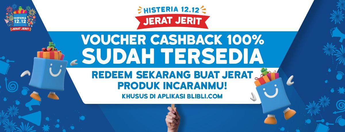 #Blibli - Promo Voucher Cashback 100% Sudah Tersedia (HANYA di APLIKASI)