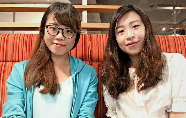 圖左至右為李蕙君心理師和何詩君心理師