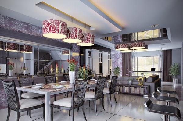 Dise os de comedores elegantes colores en casa for Diseno comedores modernos
