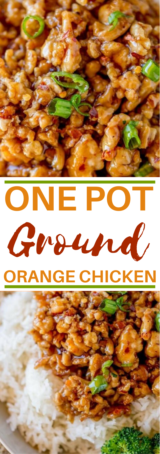 Ground Orange Chicken #dinner #chicken #easy #weeknight #recipes