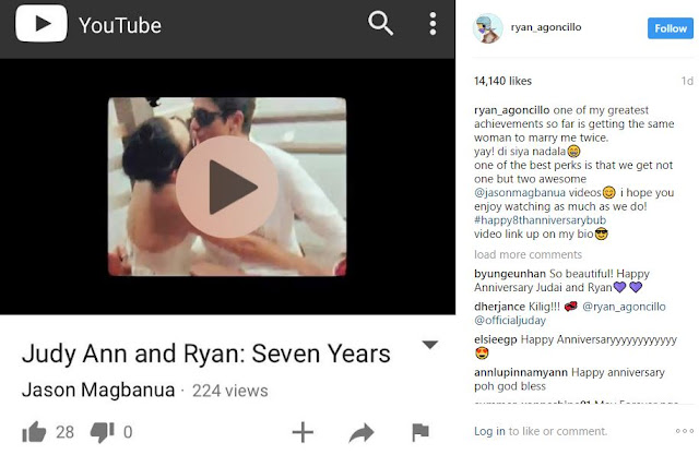 Happily Married Couple Ryan Agoncillo and Judy Ann Santos Celebrated Their 8th Anniversary With THIS!