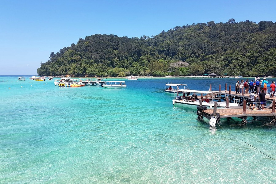 Sapi Island off the coast of Kota Kinabalu in Sabah, Northern Borneo