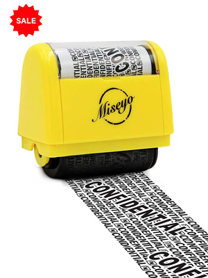 Roller Stamp Perfect for Privacy Protection (Overwrite data unreadable)