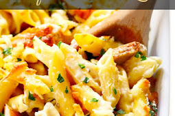 Delicious Chicken Alfredo Baked Ziti