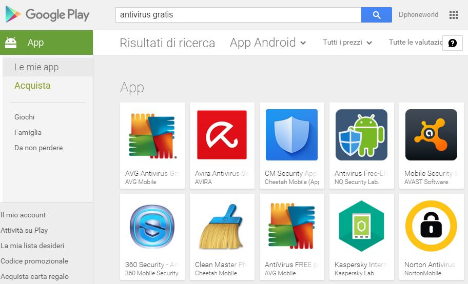 Download antivirus gratis Android - migliori Antivirus Android gratis | Dphoneworld.net
