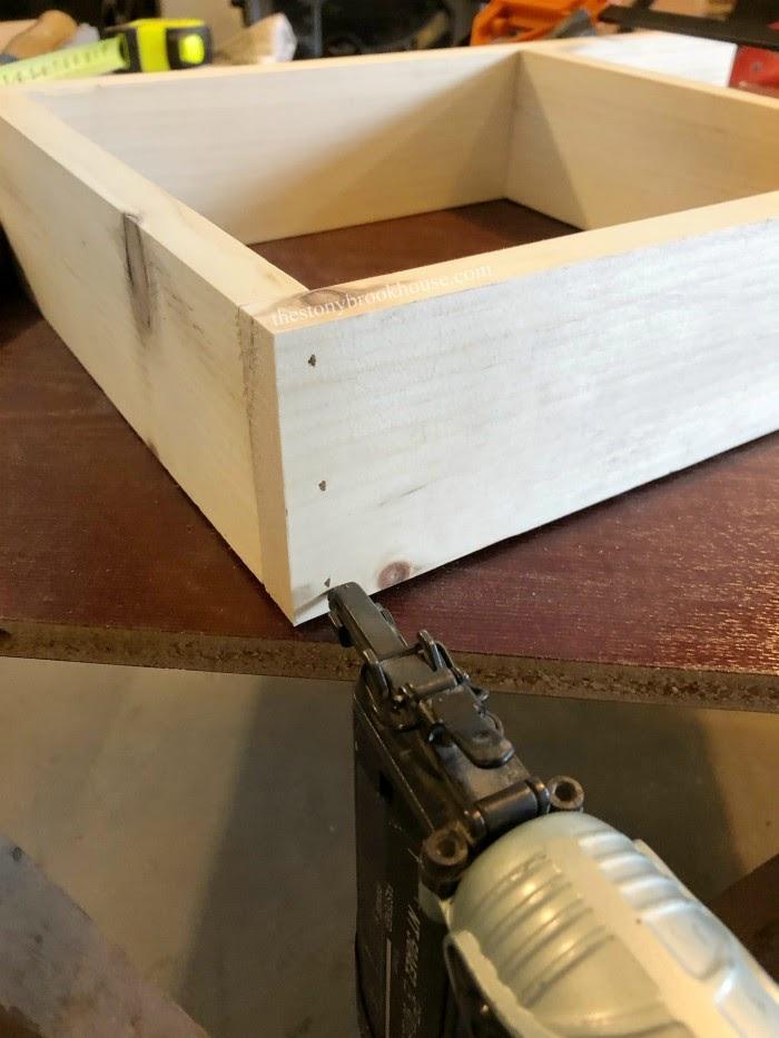 nailing shelf together