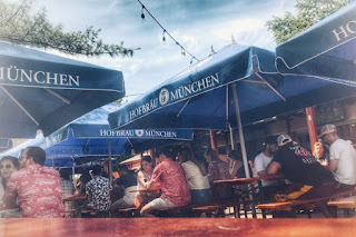 An afternoon at a beer garden