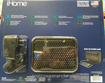 Costco 1117777 - iHome iBT7 Waterproof Bluetooth Speaker: rugged and built to last
