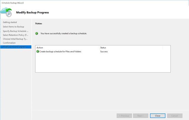 Modify Backup Progress
