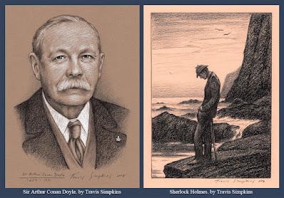 Sherlock Holmes. Sir Arthur Conan Doyle. for S. Brent Morris. by Travis Simpkins